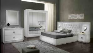 chambre complete blanche chambre adulte complète design laquée blanche cristalline
