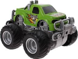 100 Big Truck Toys Monster Truck Foot Drive 85 Cm Green