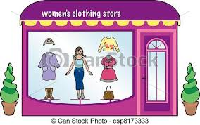 Womens Clothing Store Vector