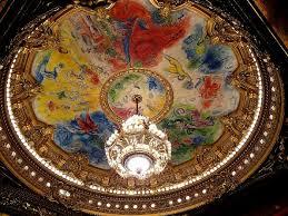 opéra garnier plafond de la salle de spectacle de chagall