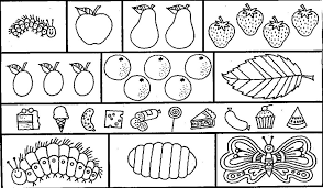 Hungry Caterpillar Coloring Pages Intended Cool Very