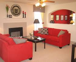 Red Living Room Furniture Decorating Ideas