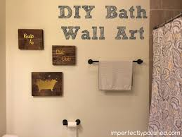 Bathroom Wall Decor Diy 1000 Ideas About Bathroom Wall Art