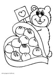 Valentine Free Printable Coloring Pages