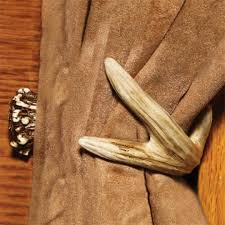 faux deer antler curtain tie back cabin place
