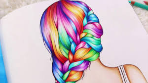 Rainbow Braid Coloring Book Color Me Inspired