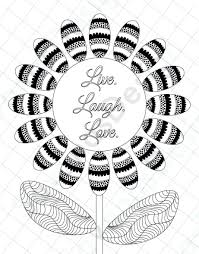 Coloring Pages Sunflower Page For Adults Love Adult Mandala Free Printable