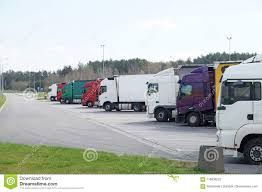 100 Area Trucks A Row Of In The Rest Stock Image Image Of Haul