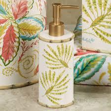Beach Glass Bath Accessories by Tropical Palm Ceramic Bath Accessories By Dena Home Tropical