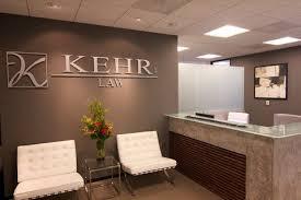 Contemporary Reception Desk In A Law Office