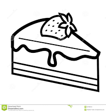 Sponge Cake Clipart Black And White Pencil And In Color Sponge in Cake Slice Clipart
