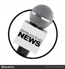 Microphone With Breaking News Box Sign As Circle Icon On A White Background 3d Rendering Photo By Doomu