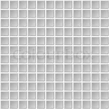 Seamless Mosaic Tiles Texture With White Filling Vector Illustration