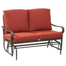 Hampton Bay Oak Cliff Metal Outdoor Glider With Chili ... Details About Garden Glider Chair Tray Container Steel Frame Wood Durable Heavy Duty Seat Outdoor Patio Swing Porch Rocker Bench Loveseat Best Rocking In 20 Technobuffalo The 10 Gliders Teak Mahogany Exclusive Fniture Accsories Naturefun Kozyard Fleya Smooth Brilliant Outsunny Double How To Tell If Metal And Decor Is Worth Colorful Mesh Sling Black Buy Chairoutdoor Chairrecliner Product On Alibacom Silla De Acero Con Recubrimiento En Polvo Estructura