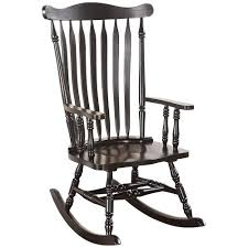 Traditional Style Wooden Rocking Chair With Contoured Seat, Black Isla Wingback Rocking Chair Taupe Black Legs Safavieh Outdoor Living Vernon White Rar Eames Colby Avalanche Patio Faux Wood Rapson Amazoncom Adults For Heavy People Clips Monet Rattan Rocking Chair Base Pp Ginger
