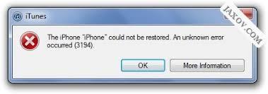 How To Resolve iTunes Error 3194 & Fix Infinite DFU Loops