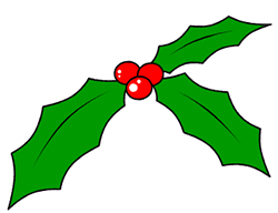 How To Draw Holly For A Cartoon Christmas Decoration
