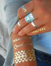 Geometric Jewelry Gold Metallic Temporary Tattoos By ShimmerTatts 1095 See Our Website For Fall Fashion
