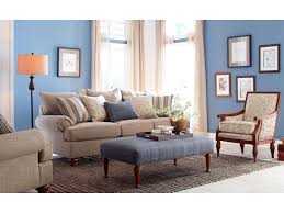 craftmaster 7970 traditional sofa with exposed wood feet