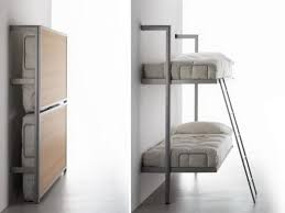 wall mounted folding bunk beds