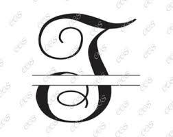 Split letter t svg