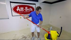 Zep Floor Finish For Stained Concrete by How To Clean Vct Or Concrete Floors With All Brite Sales In