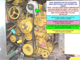 3208 cat specs cat 3208 belt numbers and their proper adjustment wanderlodge