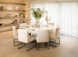 Modern Dining Table Decor Flower Centerpieces Zachary Horne Homes