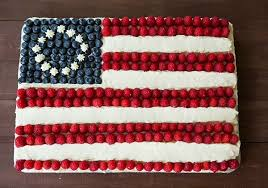 Flag Cake From Scratch on Brown Eyed Baker
