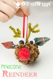 Pine Cone Christmas Tree Ornaments Crafts by Pinecone Reindeer Homemade Ornaments Kids Craft Room
