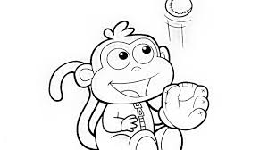 Dora The Explorer Monkey Boots Baby Coloring Book Pages Videos For Kids