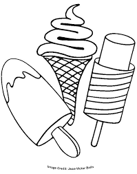 Free Ice Cream Coloring Pages For Kids