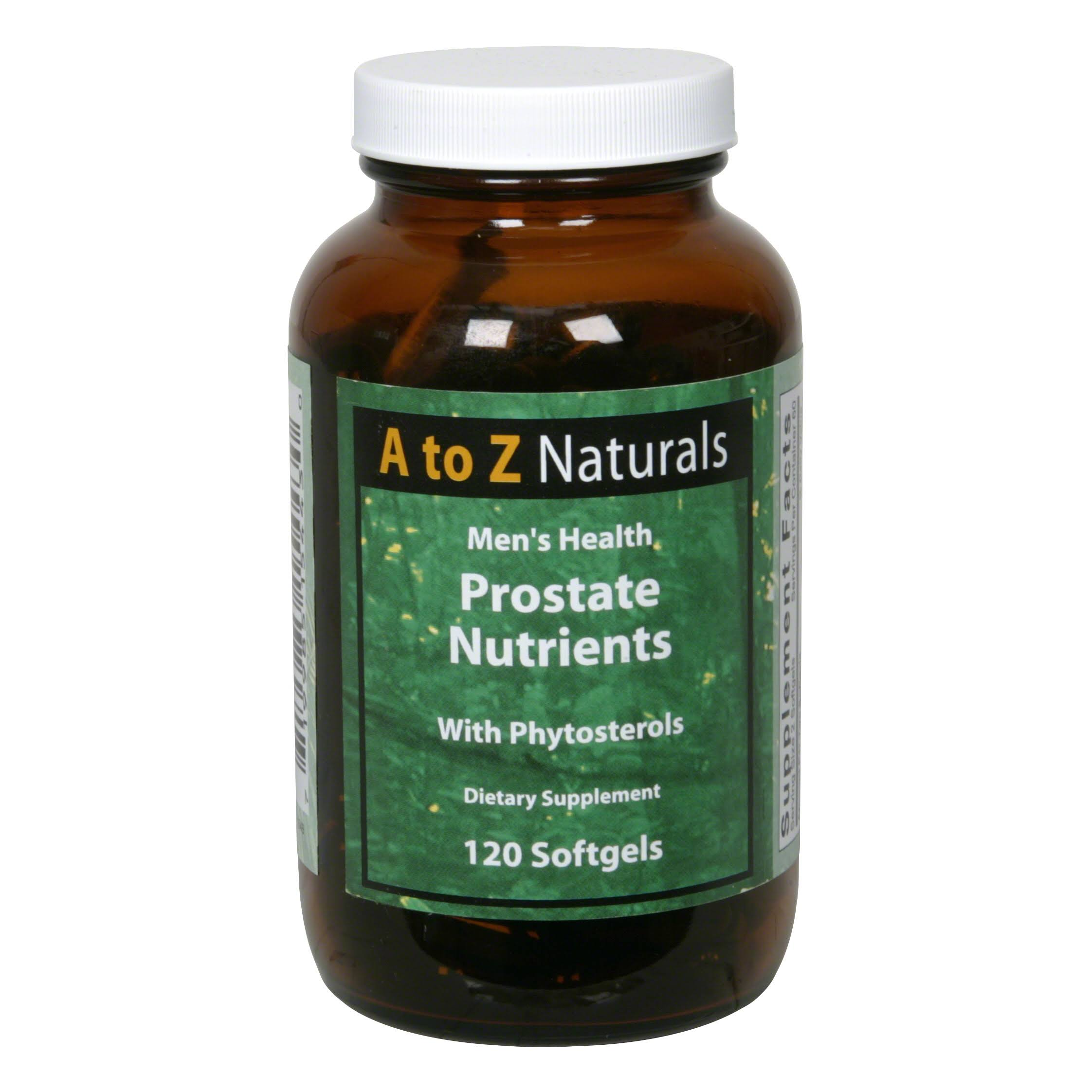 A to Z Naturals Men's Health Prostate Nutrients, with Phytosterols, Softgels - 120 softgels
