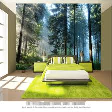Aliexpress Buy Beibehang Painting Living Room Natural Forest Tree Wall Art Photo Background Bedroom Mural 3d Home Decoration Wallpaper From
