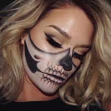Halloween Half Mask Makeup by Best 25 Half Skull Ideas On Pinterest Halloween Skull Makeup