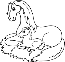 Baby Horse Coloring Pages Images Of Photo Albums Printable