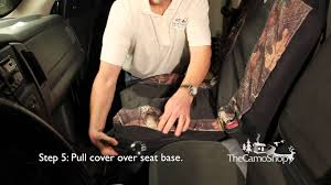Camo Truck: Browning Camo Seat Cover Installation - YouTube