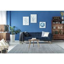 teppich 100 wolle handgewebt uni design wohnzimmer grau blau 140cm x 200cm