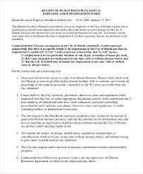 Hr Manual Template 6 Free Word Pdf Document Downloads Rh Net Employment Handbook