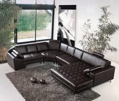 canapé d angle marron deco in canape d angle panoramique en cuir marron houston
