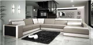 canapes haut de gamme canapé angle en cuir vachette blanc
