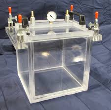 Desiccator Cabinet For Camera by Acrylic Vacuum Chamber Cube 10 Inch Inside Dimensions Top Load