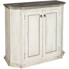 White Washed French Country Hall Chest