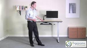 Ergo Elements Standing Desk by Height Adjustable Desks Ergonomicofficedesigns Com Youtube