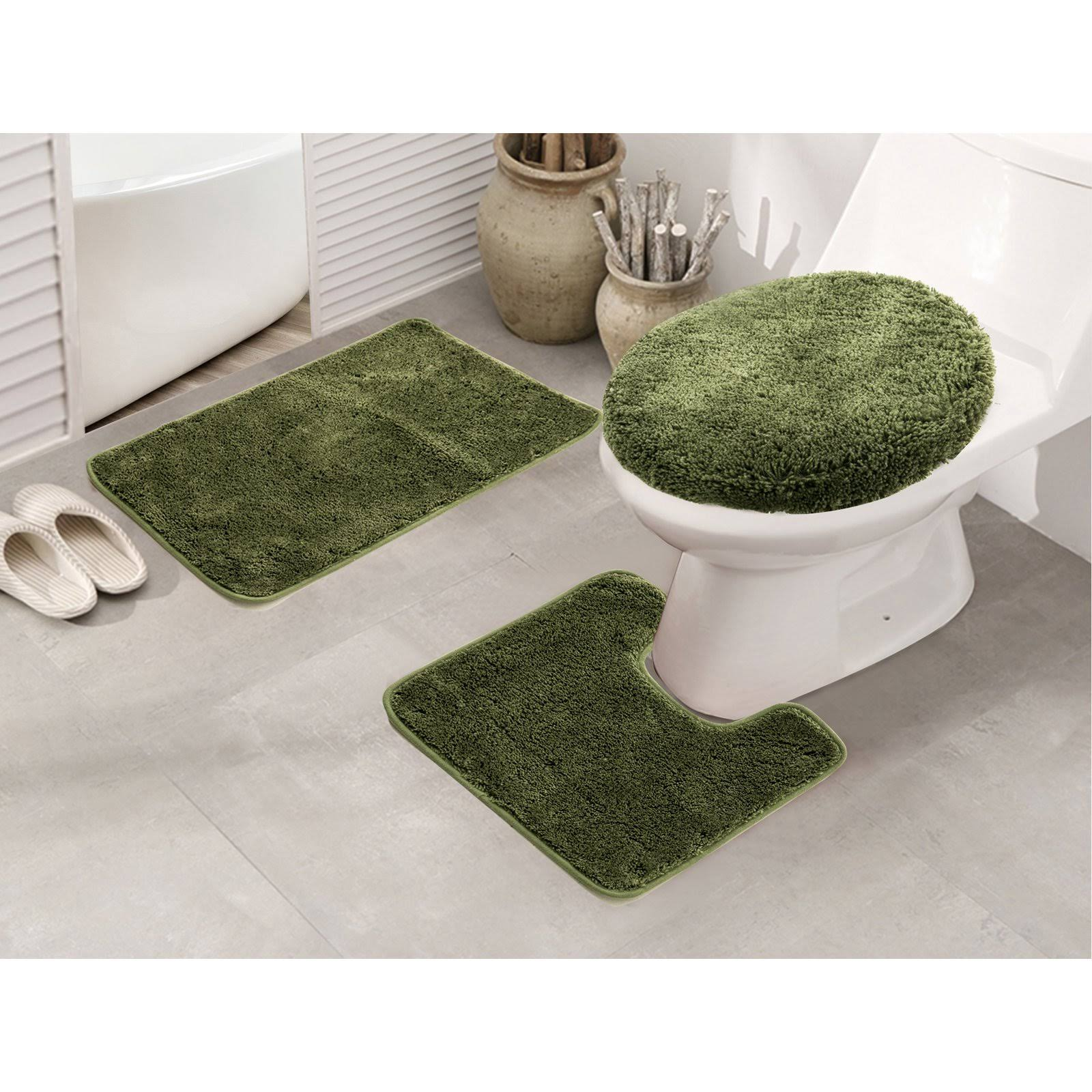 RT Designers Collection Royalty 3 Piece Bath Rug Set Sage