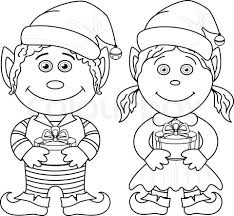 Trendy Female Christmas Elf Coloring Pages Petalbumnet With Page