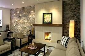 dekoration wohnzimmer ideen deko furs steinwand and
