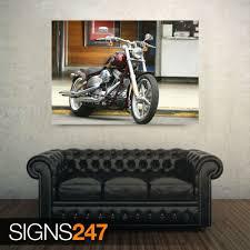 kunstplakate ac392 bike poster harley davidson motorcycle