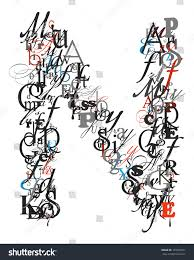 Royalty free Letter N alphabet from different font…