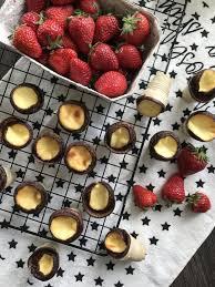 käsekuchen in der waffelschale backen dessert